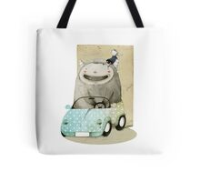 Monster In A Car Tote Bag