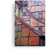 Tutor architecture in Copenhagen, Denmark Canvas Print