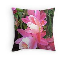 Christmas Cactus - Makes a delightful picture Throw Pillow