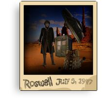 The War Doctor in Roswell Canvas Print