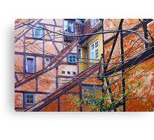 Tutor architecture in Pilestræde Copenhagen Canvas Print