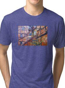 Tutor architecture in Pilestræde Copenhagen Tri-blend T-Shirt