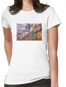 Tutor architecture in Pilestræde Copenhagen Womens Fitted T-Shirt