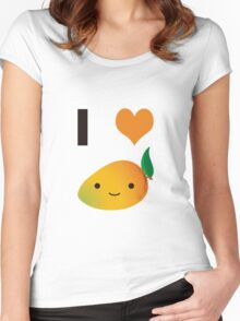 I heart Mangos Women's Fitted Scoop T-Shirt