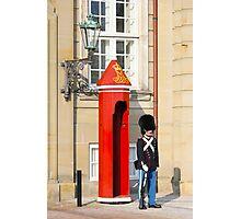 Royal guard at Amalienborg Royal Palace in Copenhagen, Denmark. Photographic Print