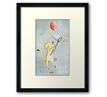 Cat With Balloon Framed Print