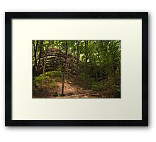 Canyon Waves Framed Print