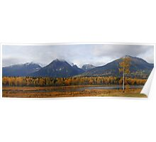 Autumn in the mountains (panoramic) Poster