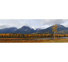 Autumn in the mountains (panoramic) Photographic Print