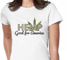 Marijuana Hemp Good For America Womens Fitted T-Shirt