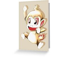 Pokemon Chimchar Cheers  Greeting Card