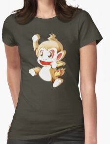 Pokemon Chimchar Cheers  Womens Fitted T-Shirt