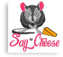Say Cheese Mouse Canvas Print