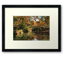 Gulpha Gorge Bridge Framed Print
