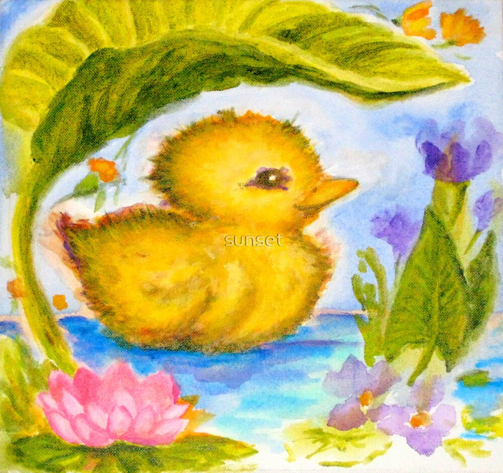 Hearts Content: my little ducky by sunset