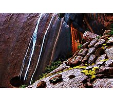 Waterfalls at Uluru Photographic Print