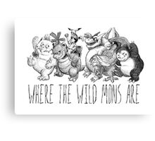 Where the Wild Mons Are Canvas Print