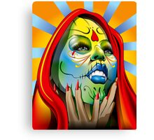 That Girl Vector Redraw Canvas Print