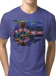 Red Wine Glass Tri-blend T-Shirt