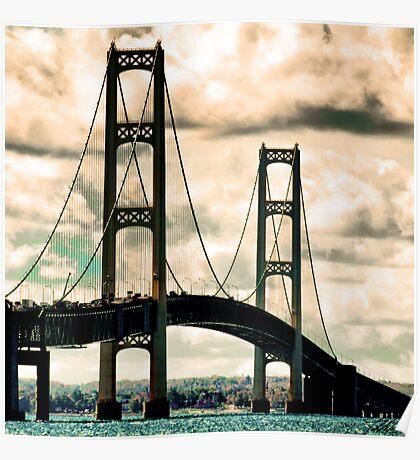 Mackinac Bridge 100110 Poster