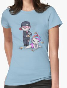 PIZZA RAIN Womens Fitted T-Shirt