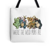 Where the Wild Mons Are (Colored Version) Tote Bag