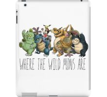 Where the Wild Mons Are (Colored Version) iPad Case/Skin