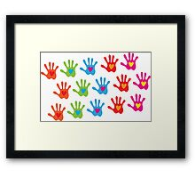 kids hands Framed Print