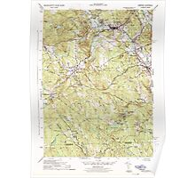 Massachusetts  USGS Historical Topo Map MA Uxbridge 352276 1944 31680 Poster