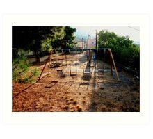 Deserted Lourdas playpark Art Print