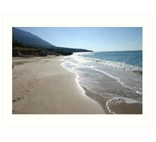 Nudist beach but no nudists Art Print