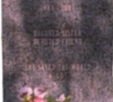 Buffy's Gravestone Sticker
