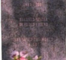 Buffy's Gravestone Sticker