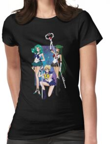 Sailor moon - Uranus, Neptune & Pluto Womens Fitted T-Shirt