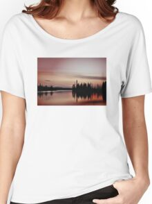 Pink Sunset, Manitoba Women's Relaxed Fit T-Shirt