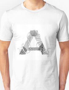 Zentangle®-Inspired Art - Tangled Alphabet - A T-Shirt