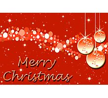 Merry Christmas - red wallpaper Photographic Print
