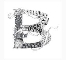 Zentangle®-Inspired Art - Tangled Alphabet - B Kids Tee