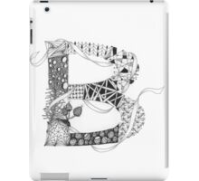 Zentangle®-Inspired Art - Tangled Alphabet - B iPad Case/Skin