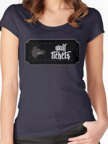 Wolf Tickets Women's Fitted Scoop T-Shirt