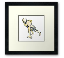 High Intensity Interval Training Push-up Etching Framed Print