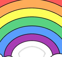 I Study Rainbows - pale green Sticker