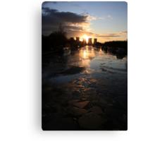 Broken Ice at Sunset Canvas Print