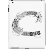 Zentangle®-Inspired Art - Tangled Alphabet - C iPad Case/Skin