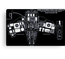Gemini Instrument Panels Canvas Print