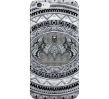 Bat God Black and white Aztec Pattern iPhone Case/Skin