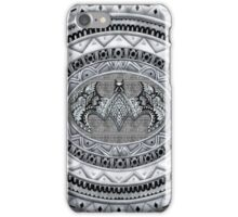 Bat God Black and white Aztec Pattern iPhone Case/Skin