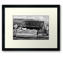 Destructive Decay Framed Print