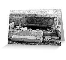 Destructive Decay Greeting Card