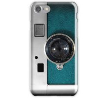 Blue camera with germany lens iPhone Case/Skin